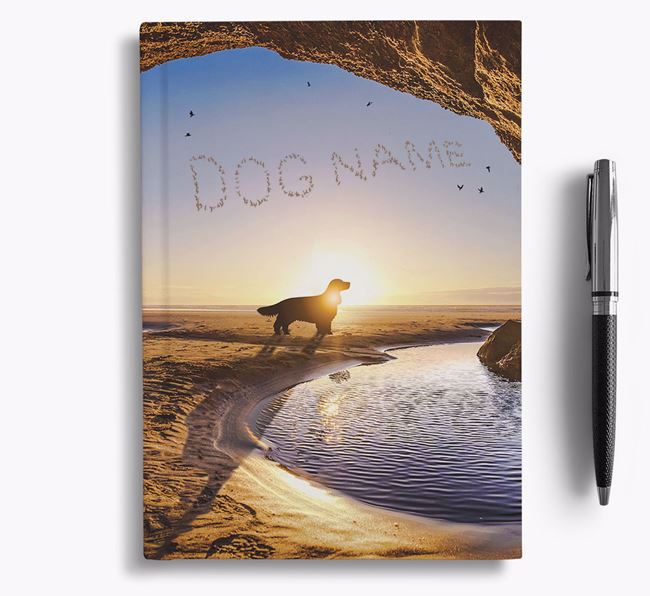 'Sunset Cave' - Personalized Welsh Springer Spaniel Notebook