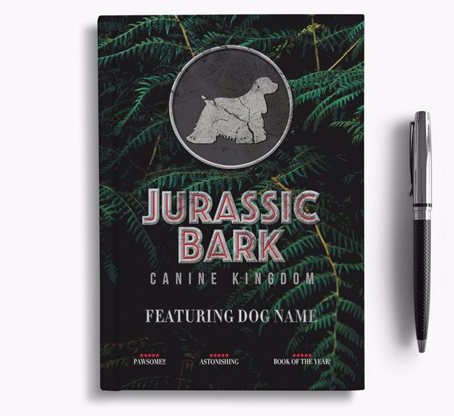 'Jurassic Bark' - Personalized American Cocker Spaniel Notebook