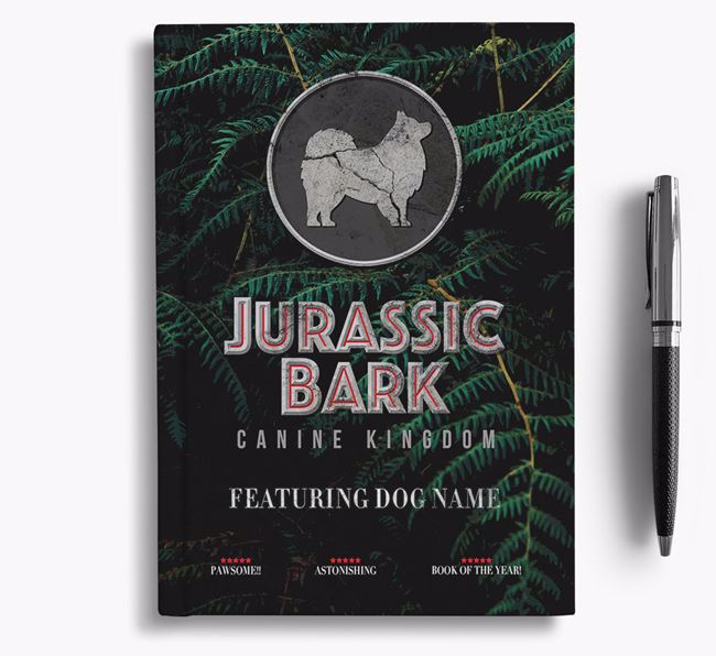 'Jurassic Bark' - Personalized American Eskimo Dog Notebook