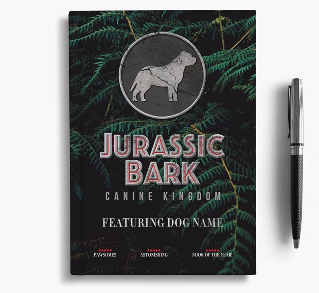 'Jurassic Bark' - Personalized American Staffordshire Terrier Notebook