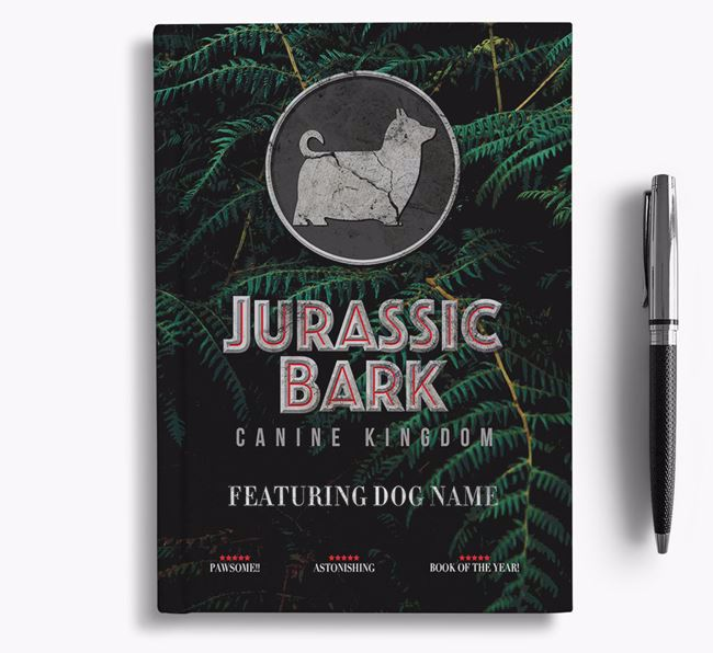 'Jurassic Bark' - Personalized Australian Silky Terrier Notebook