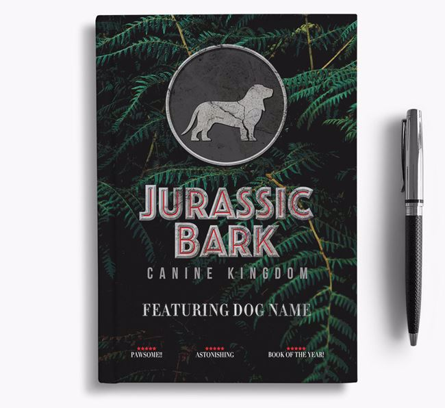 'Jurassic Bark' - Personalized Basset Bleu De Gascogne Notebook