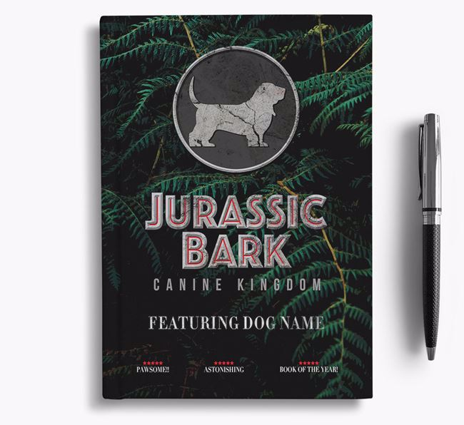'Jurassic Bark' - Personalized Basset Hound Notebook