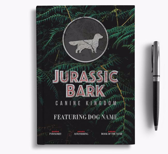 'Jurassic Bark' - Personalized Golden Dox Notebook