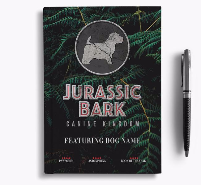 'Jurassic Bark' - Personalized Norfolk Terrier Notebook