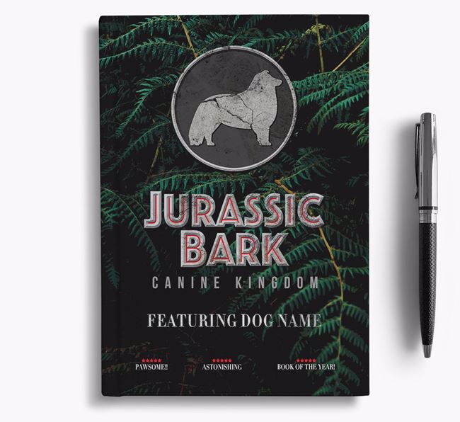 'Jurassic Bark' - Personalized Rough Collie Notebook