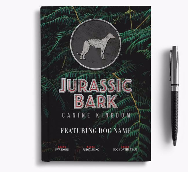 'Jurassic Bark' - Personalized Whippet Notebook