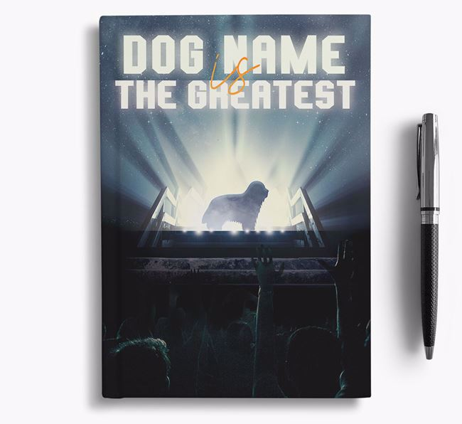 The Greatest - Personalized Bearded Collie Notebook