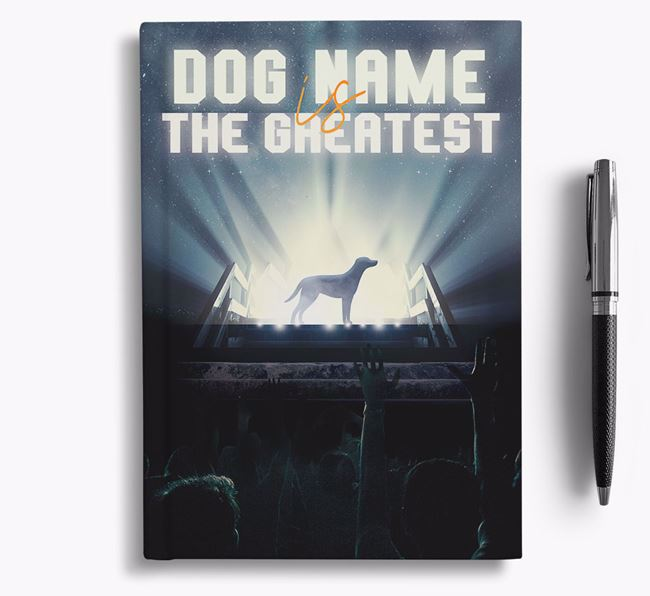 The Greatest - Personalized Blue Lacy Notebook