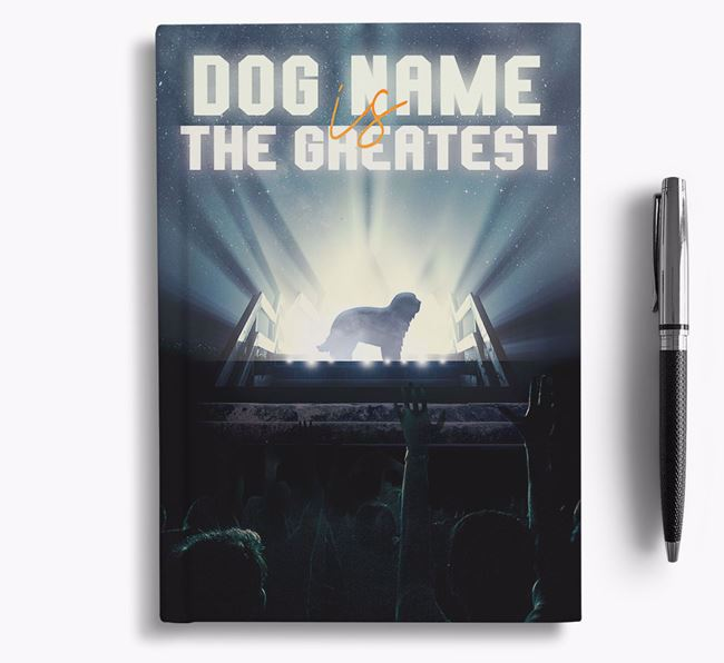 The Greatest - Personalized Catalan Sheepdog Notebook