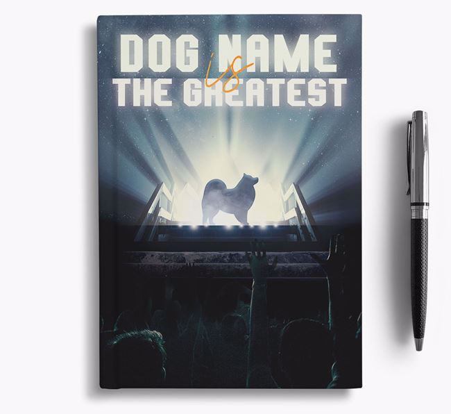 The Greatest - Personalized Japanese Spitz Notebook