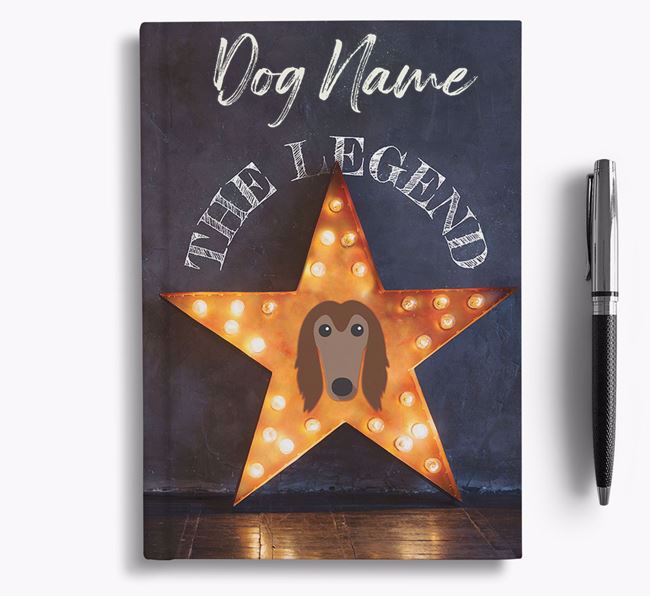 'The Legend' - Personalized Afghan Hound Notebook