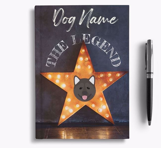 'The Legend' - Personalized Akita Notebook