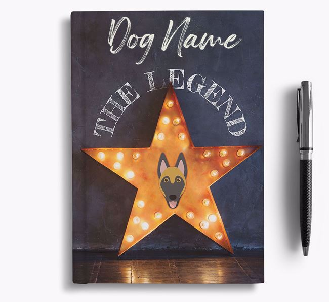 'The Legend' - Personalized Belgian Malinois Notebook