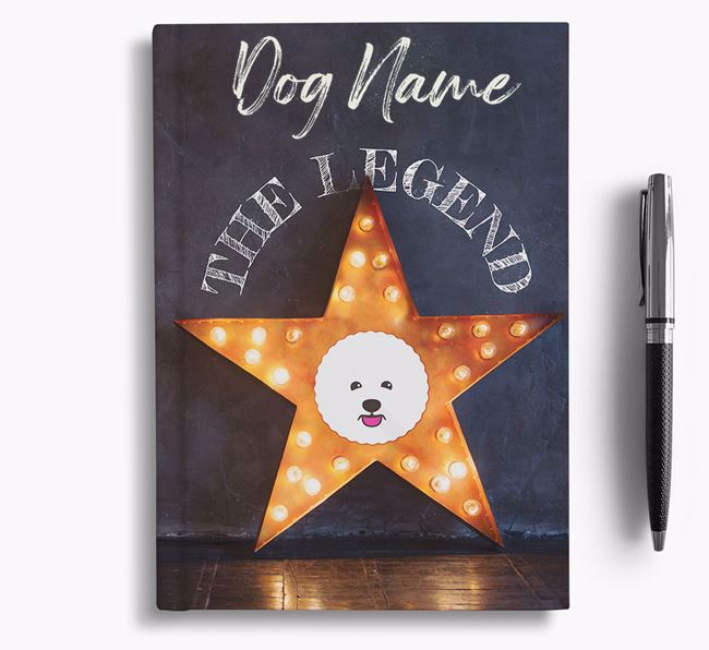 'The Legend' - Personalized Bichon Frise Notebook
