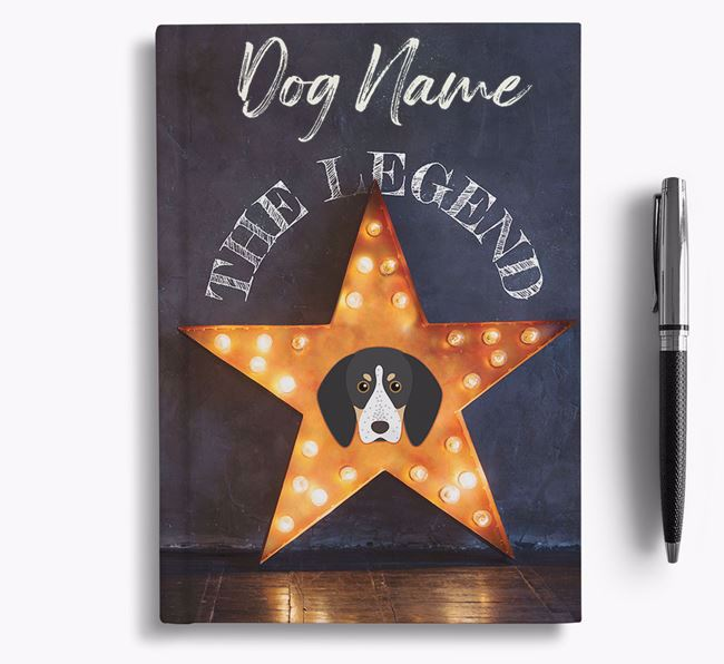 'The Legend' - Personalized Bluetick Coonhound Notebook