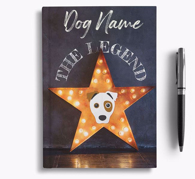 'The Legend' - Personalized Border Jack Notebook