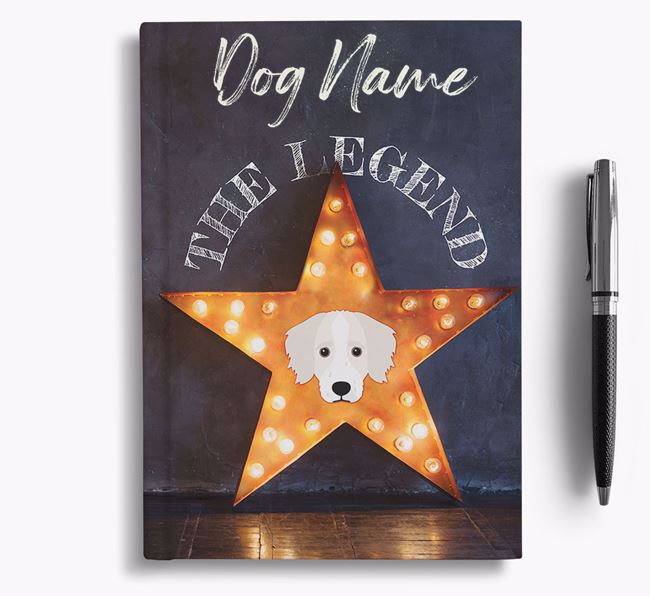 'The Legend' - Personalized Bordoodle Notebook