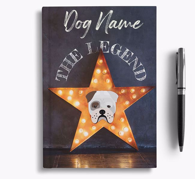 'The Legend' - Personalized Bull Pei Notebook