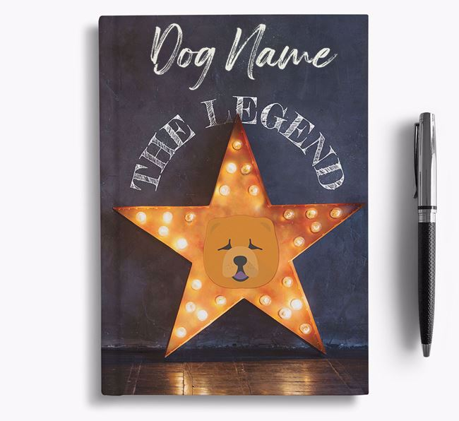 'The Legend' - Personalized Chow Chow Notebook