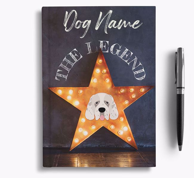 'The Legend' - Personalized Clumber Spaniel Notebook