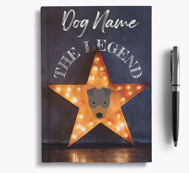 'The Legend' - Personalized Fox Terrier Notebook