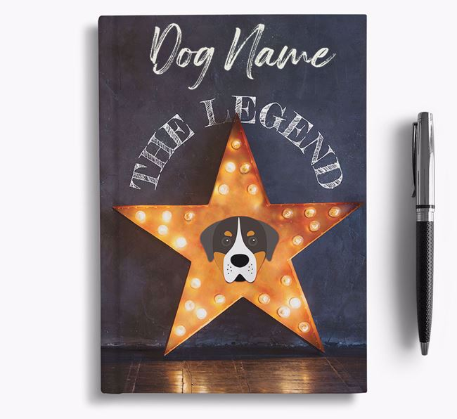 'The Legend' - Personalized Greater Swiss Mountain Dog Notebook