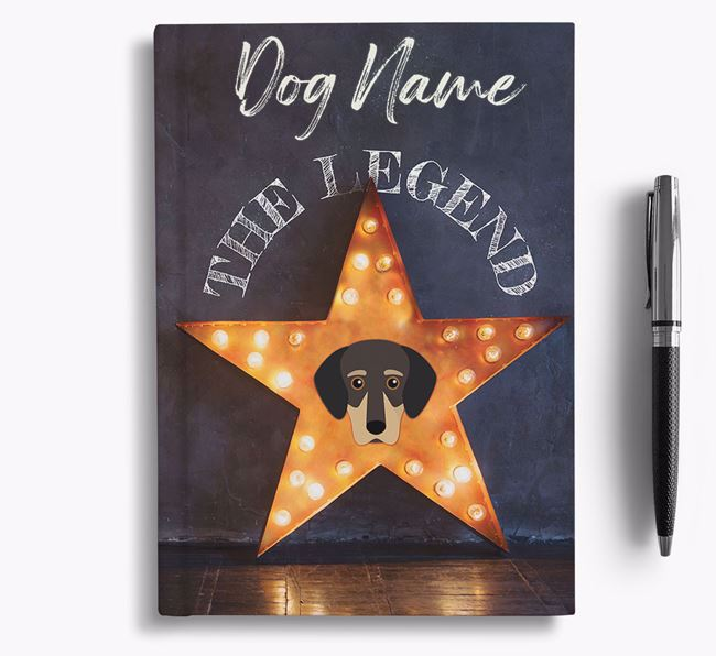 'The Legend' - Personalized Greek Harehound Notebook