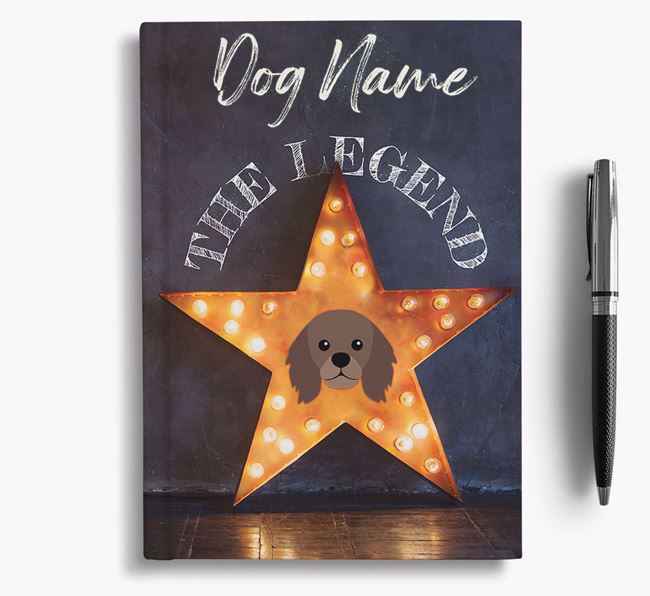 'The Legend' - Personalized King Charles Spaniel Notebook