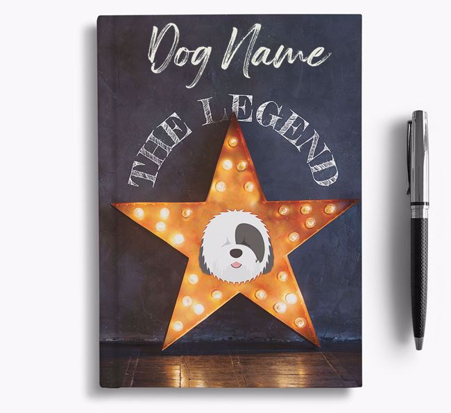 'The Legend' - Personalized Old English Sheepdog Notebook