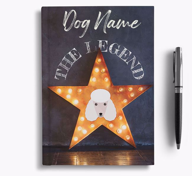'The Legend' - Personalized Poodle Notebook