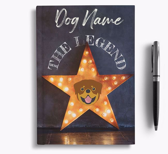 'The Legend' - Personalized Rottweiler Notebook