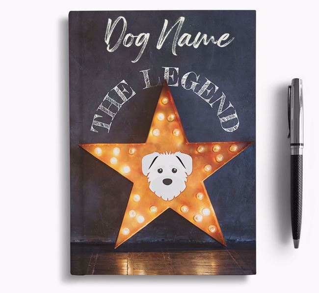 'The Legend' - Personalized Schnoodle Notebook