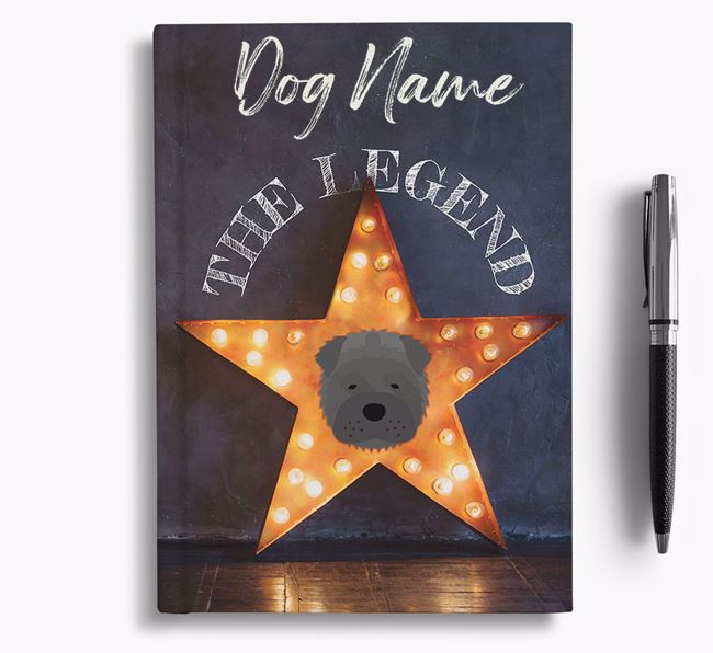 'The Legend' - Personalized Shar Pei Notebook