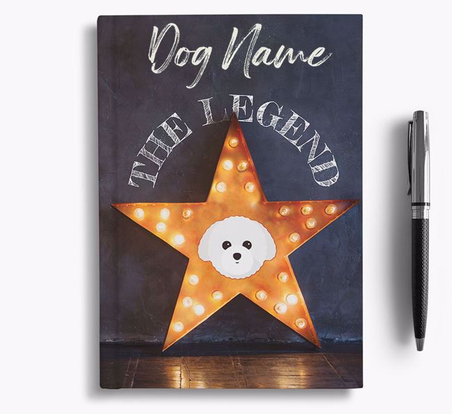 'The Legend' - Personalized Toy Poodle Notebook