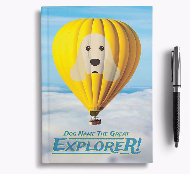 'Hot Air Balloon' - Personalized American Cocker Spaniel Notebook
