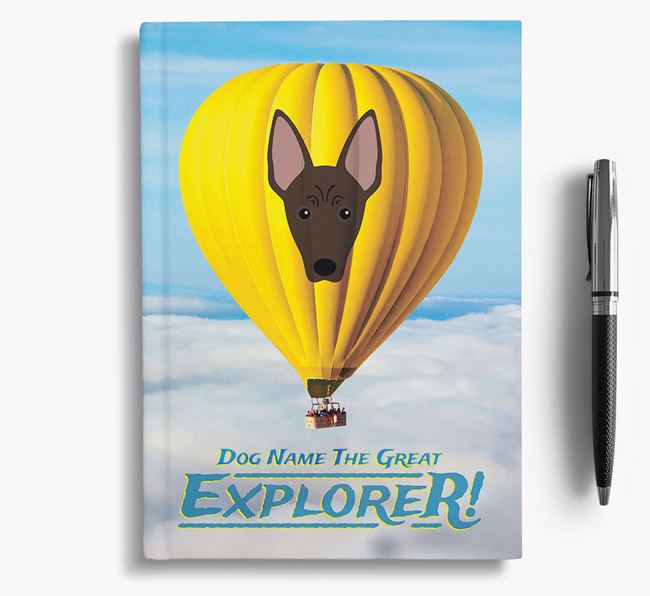 'Hot Air Balloon' - Personalized American Hairless Terrier Notebook