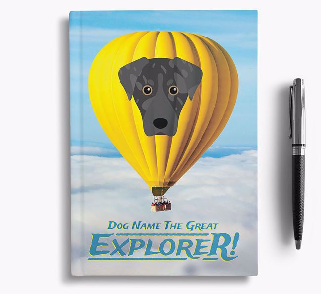 'Hot Air Balloon' - Personalized American Leopard Hound Notebook