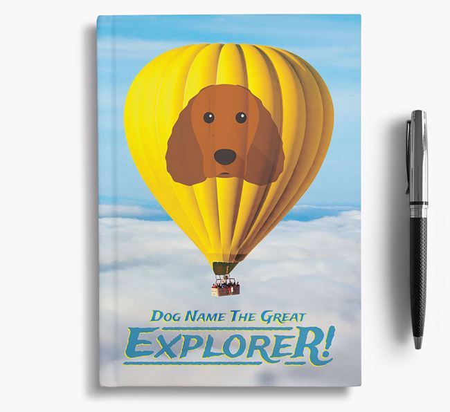 'Hot Air Balloon' - Personalized American Water Spaniel Notebook