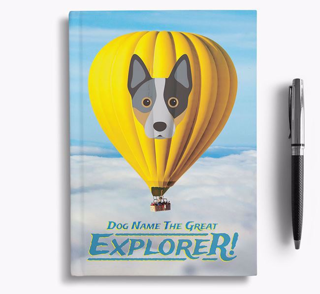 'Hot Air Balloon' - Personalized Australian Cattle Dog Notebook