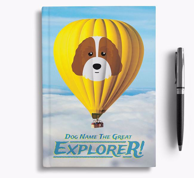 'Hot Air Balloon' - Personalized Australian Labradoodle Notebook