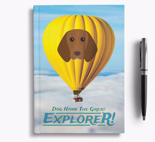'Hot Air Balloon' - Personalized Beagle Notebook