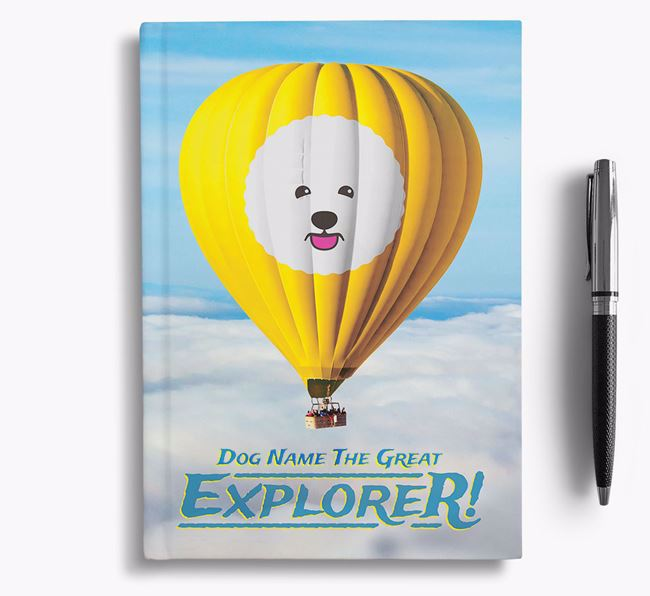 'Hot Air Balloon' - Personalized Bichon Frise Notebook