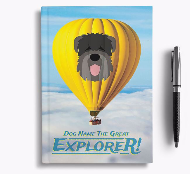 'Hot Air Balloon' - Personalized Black Russian Terrier Notebook