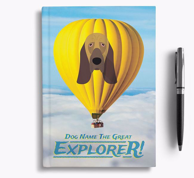 'Hot Air Balloon' - Personalized Bloodhound Notebook