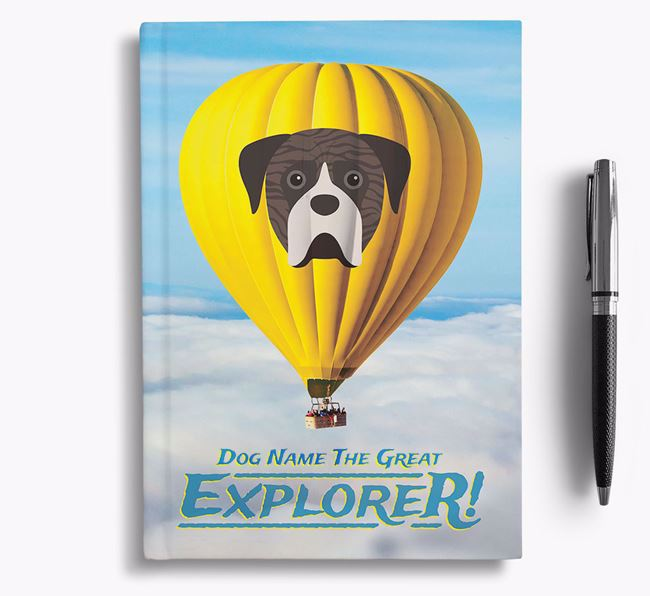 'Hot Air Balloon' - Personalized Boerboel Notebook