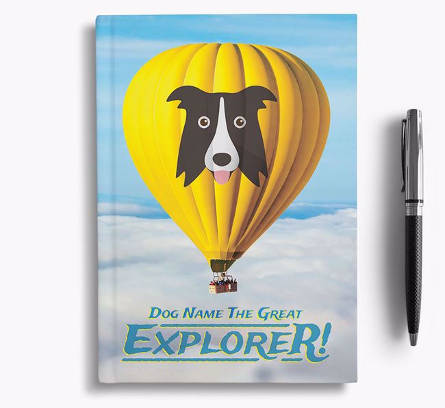 'Hot Air Balloon' - Personalized Dog Notebook