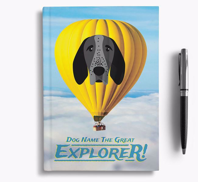 'Hot Air Balloon' - Personalized Braque D'Auvergne Notebook