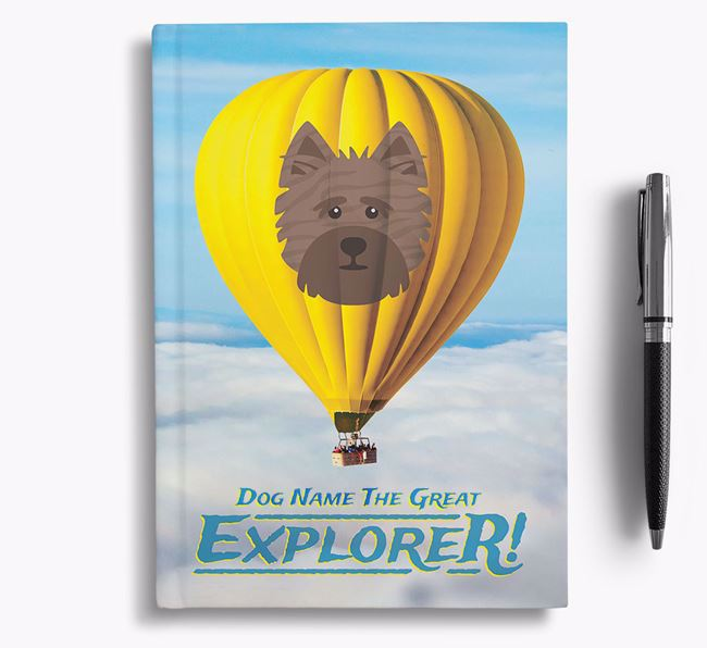 'Hot Air Balloon' - Personalized Cairn Terrier Notebook