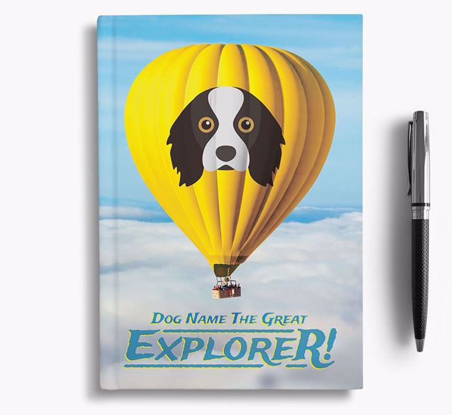 'Hot Air Balloon' - Personalized Cavalier King Charles Spaniel Notebook